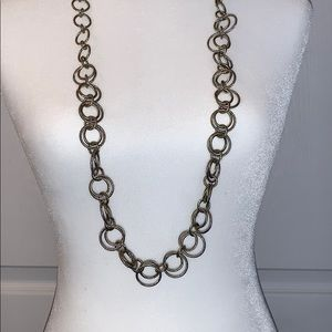 Silver and gold tone necklace